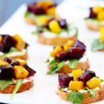 Heirloom Beet Crostini