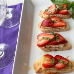 Strawberry Brie Crostini